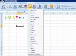 Textove funkcie v Exceli