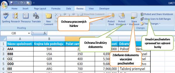 Ochrana Excel Dokumentu