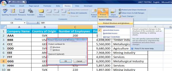 Ochrana Excelu