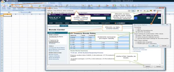 HTML tabulka do Excelu